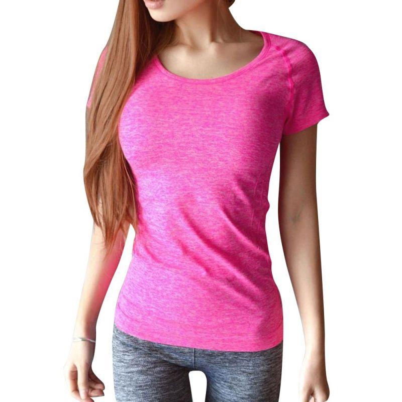 Frauen Professionelle Yoga Shirts Top Fitness Lauf Gym Sport T-shirt Schnell Trocknend Kurzen Tees Jogging Übungen Tops