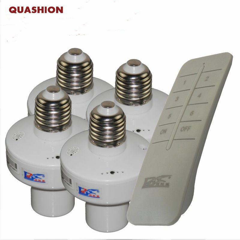 1/2/3/4 * E27 télécommande sans fil base de la lampe interrupteur oN/off prise titulaire rc dispositif intelligent 110 V 220 V