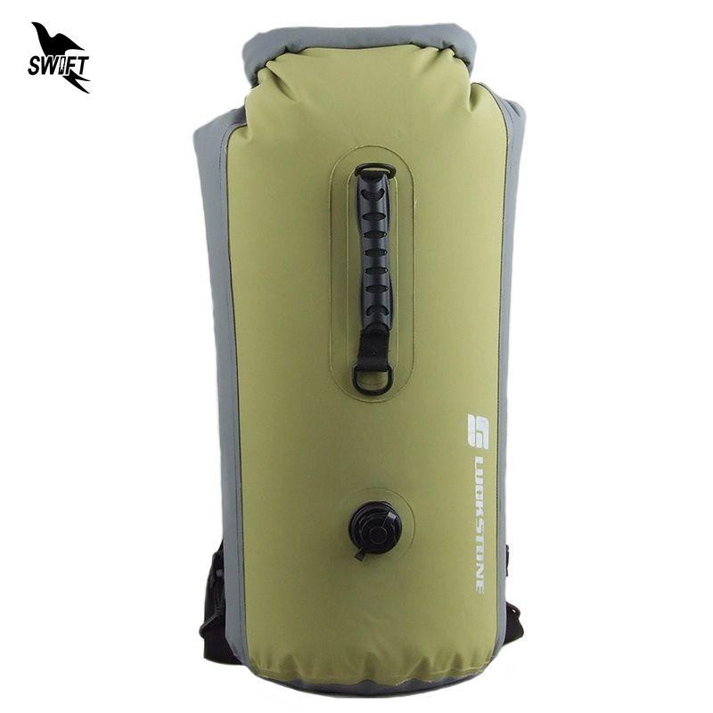 25-60L Professional IPX7 Waterproof Swimming Bag 2016 Inflatable Snorkeling Rafting Drifting Diving Dry Bag Backpack Stuff Sack