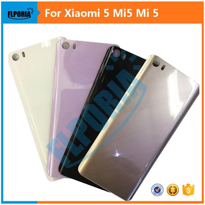 FLPORIA 1 PC Top qualité Nouveau Pour Xiaomi 5 Mi5 Mi 5 retour/Arrière Batterie De Logement De Couverture Pièces De Rechange 5.15 Pouce 4 Couleurs