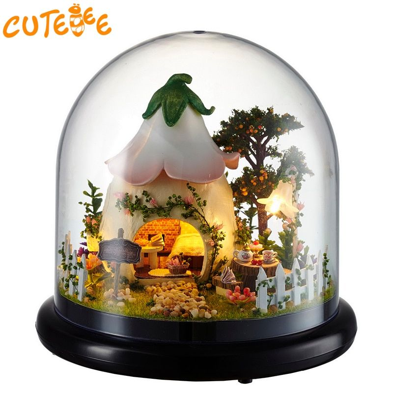 CUTEBEE Doll House Miniature DIY Dollhouse With Furnitures Wooden House For Children Birthday Gift Mood for Love <font><b>Toys</b></font> B015
