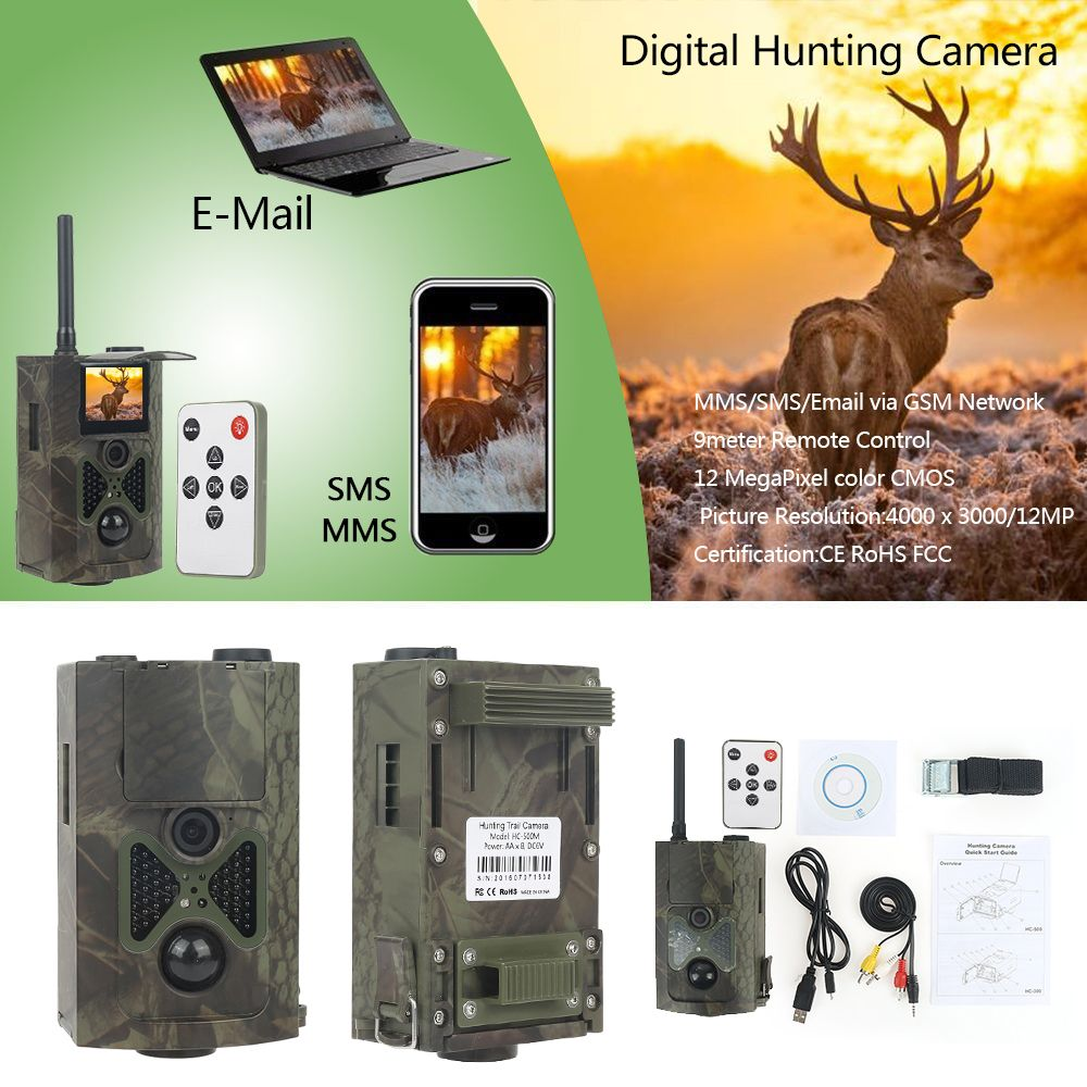 HC550M Hunting Trail Camera 12MP 1080P Infrared Night Vision Photo Video Traps Professional Scouting Device For Wildlife Foto