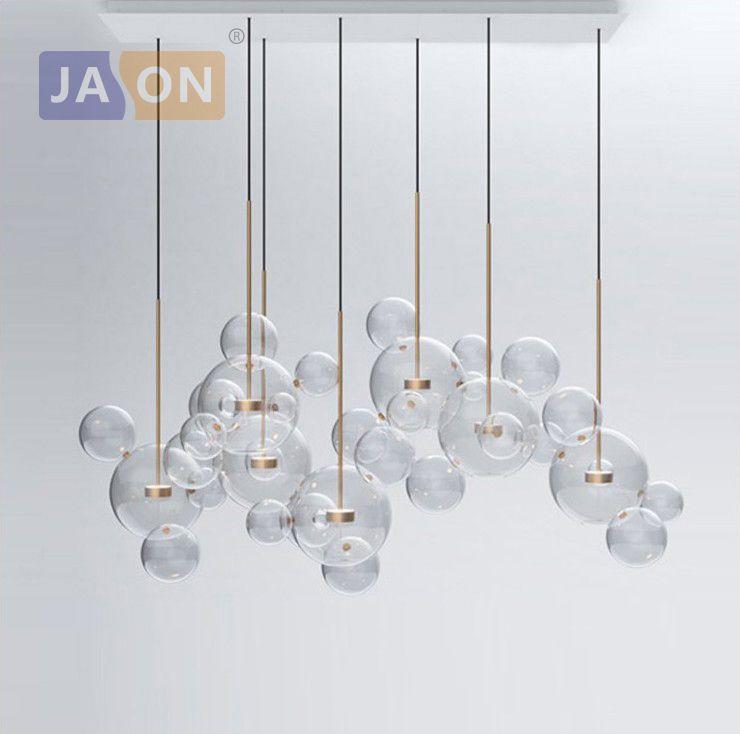 LED Postmodern Nordic Iron Glass Bubbles Designer LED Lamp LED Light.Pendant Lights.Pendant Lamp.Pendant light For Dinning Room