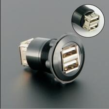22mm USB2.0 adaptateur de montage/prise/connecteur (2x USB2.0 femelle a-femelle A)