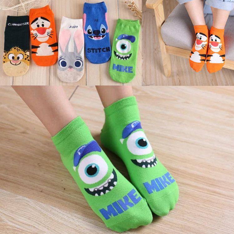 Autumn new cartoon character ladies <font><b>boat</b></font> socks breathable cute short socks wholesale female socks adult manufacturers