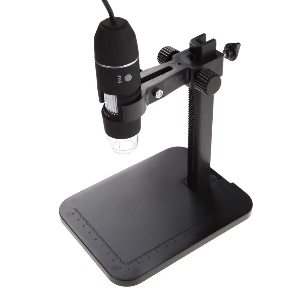 Microscope numérique Portable USB 1000X8 LED 2MP Microscope numérique Endoscope loupe caméra + support de levage + règle d'étalonnage