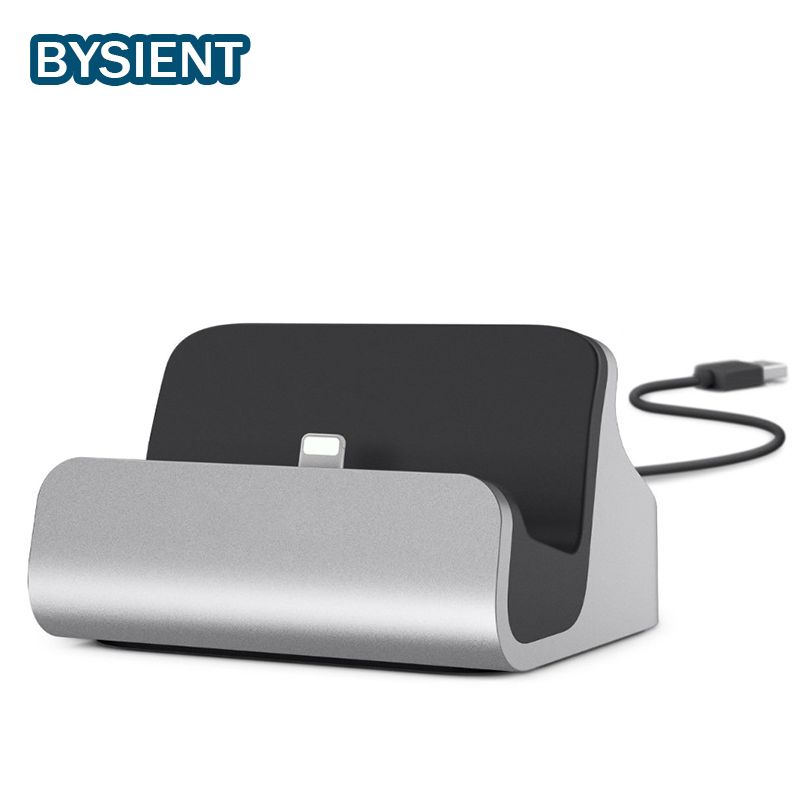 Bysient 2in1 USB Charger Dock For Apple iPhone 6 iPhone7 Plus 5V2.4A Holder Stand Data Sync iphone 6 7 dock Adapter Station base