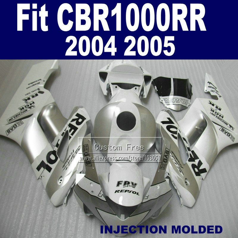 ABS plastic Injection fairing kits for Honda 2004 2005 CBR1000RR CBR 1000 RR 04 05 CBR 1000RR white repsol fairings body parts