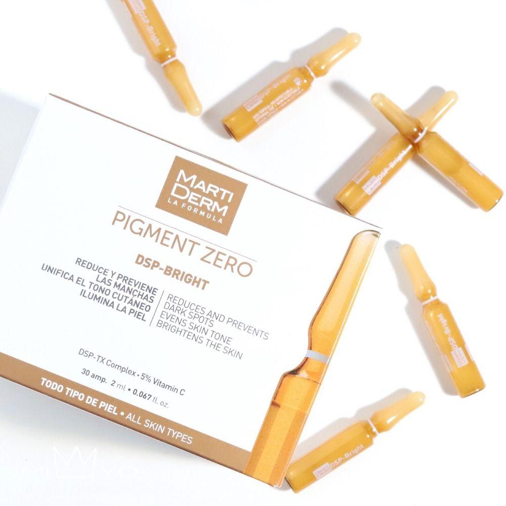 Pigment d'origine Martiderm zéro DSP-Ampoules de taches foncées lumineuses 30x2 ml taches de rousseur pour le visage élimine le sérum blanchissant
