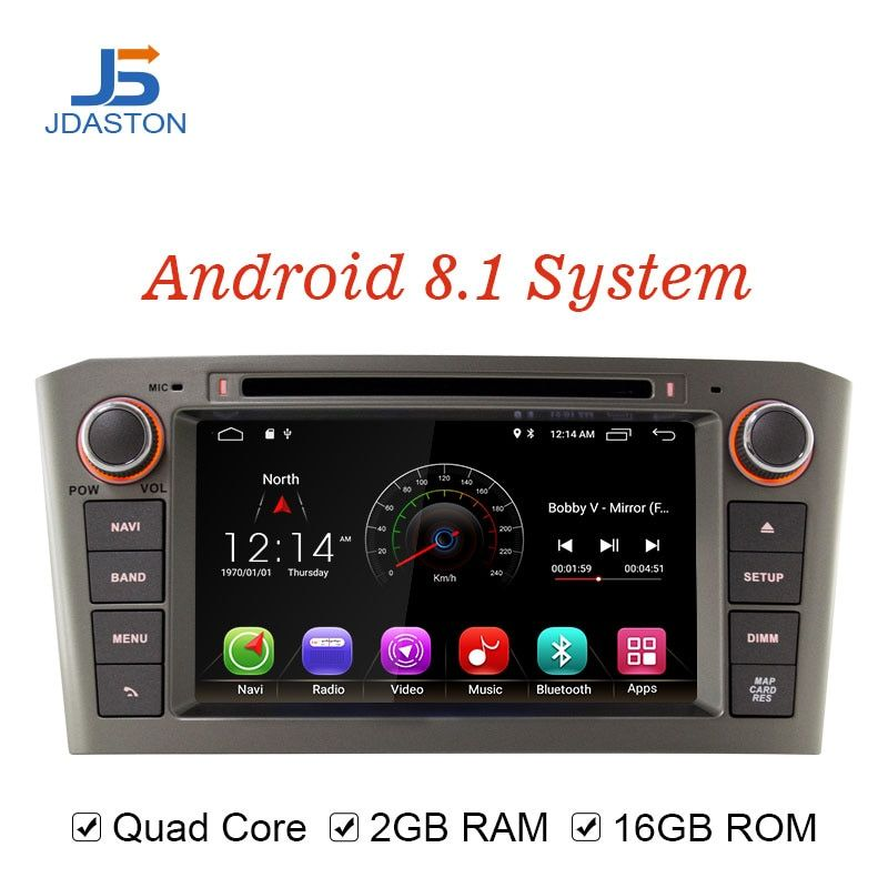 JDASTON Android 8.1 Car Multimedia Player For Toyota Avensis/T25 2003-2008 2 Din Car Radio GPS Navigation DVD CD IPS Stereo WIFI