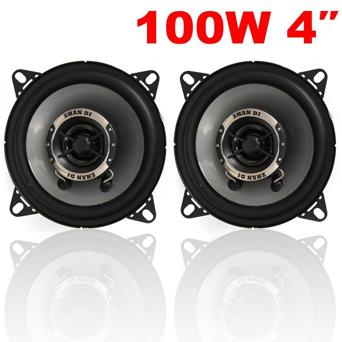KROAK 2PCS 4 Inch 10cm Car Coaxial Speakers /Car Tweeters Dual Cone Coaxial Car Van Front Rear Door Dash 240W