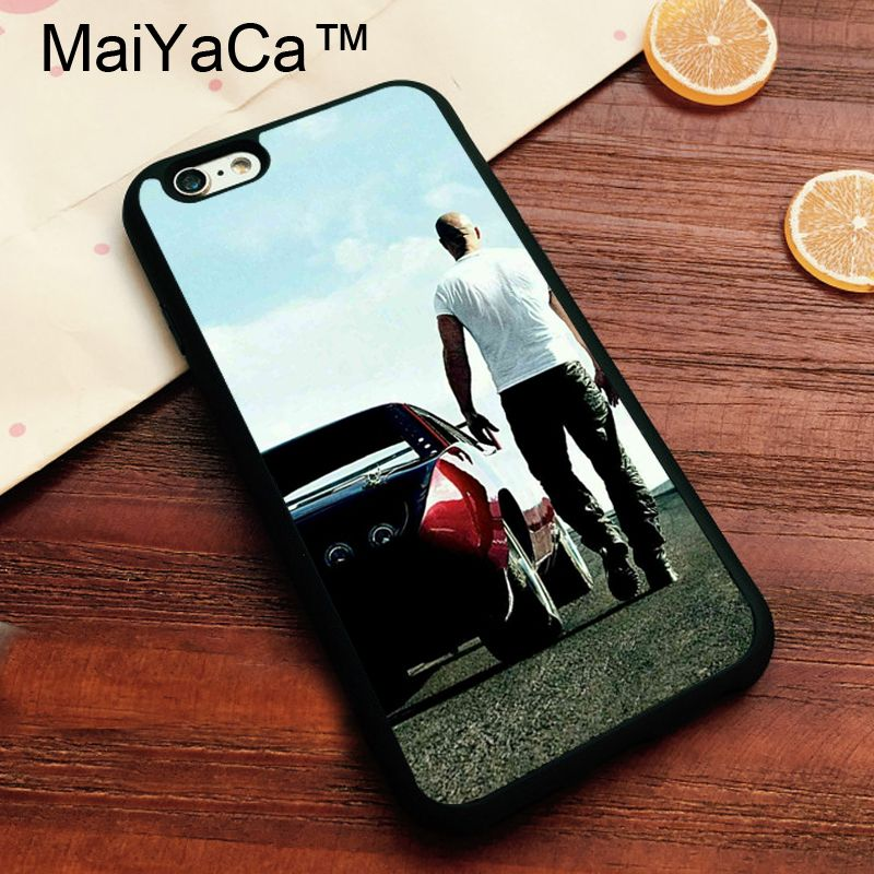 MaiYaCa Fast and the Furious Brand Cover for Apple iPhone 7 Case Soft TPU Phone Case for Apple iPhone 7 Back Cover
