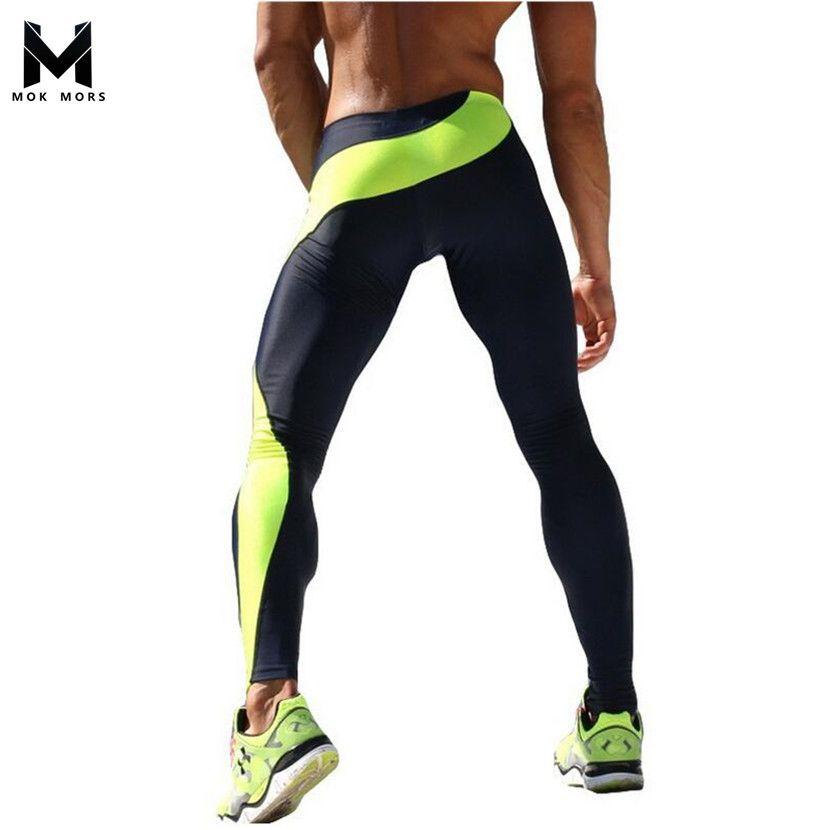 Mens Joggers Pantalones Apretados Atractivos de Los Hombres de Compresión Pantalones de la Longitud Del Tobillo Pantalones Masculinos Pantalones Casuales pantalones de Chándal Flacos M-XXL