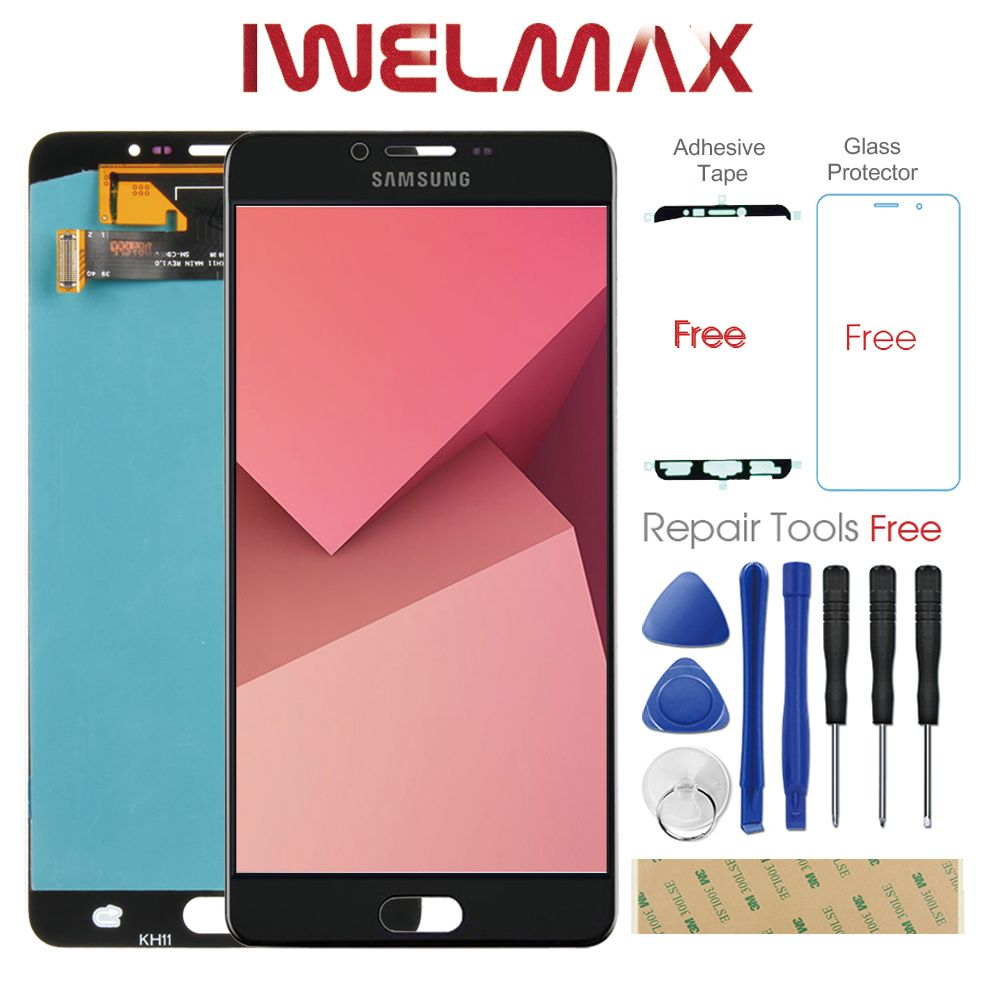 Warranty 6.0 AMOLED for SAMSUNG Galaxy C9 Pro LCD Display Touch Screen Digitizer C9000 C9 Display Screen Replacement