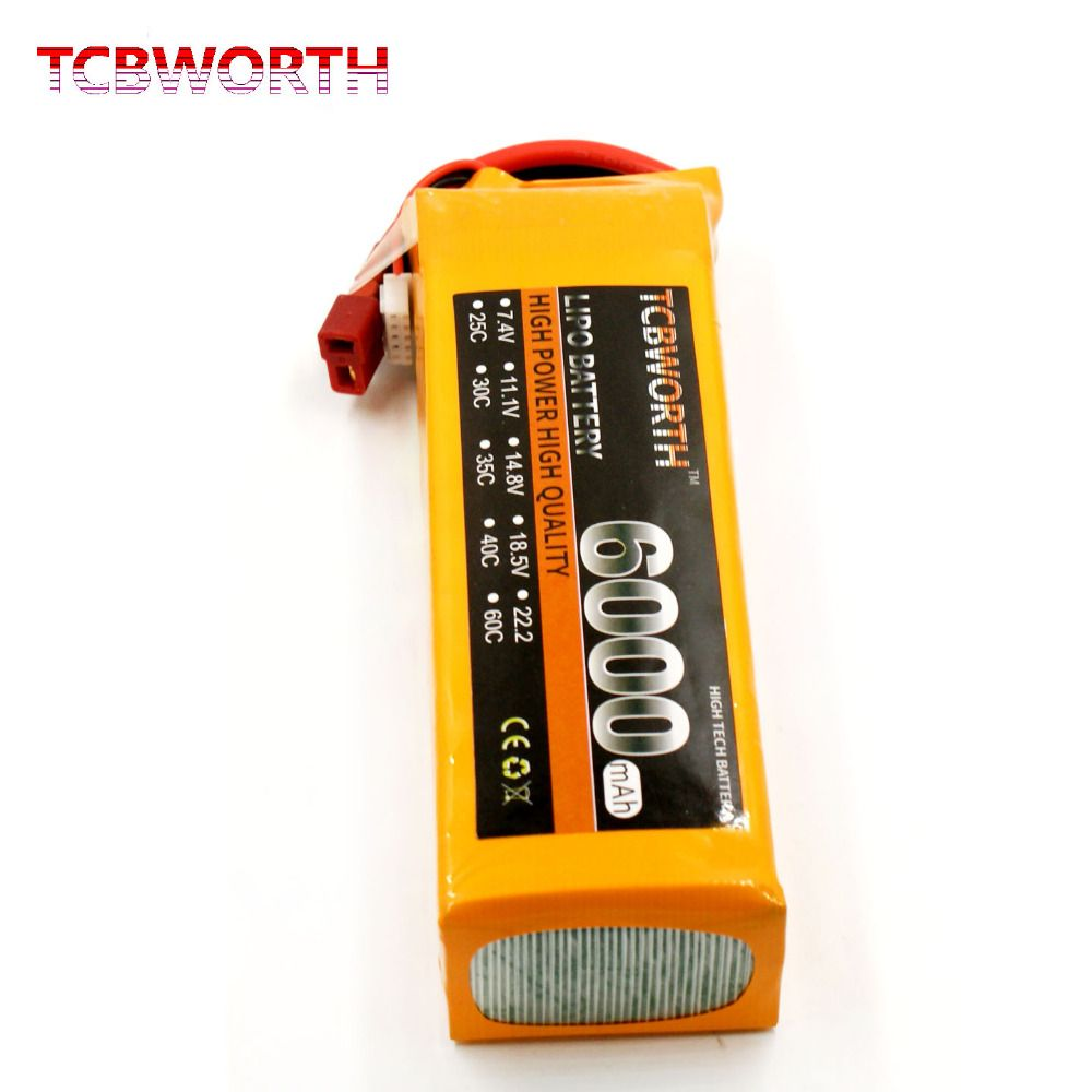 TCBWORTH 4S 14.8V <font><b>6000mAh</b></font> 60C-120C 4S RC LiPo battery For RC Airplane Helicopter Quadrotor Car Drone Li-ion battery