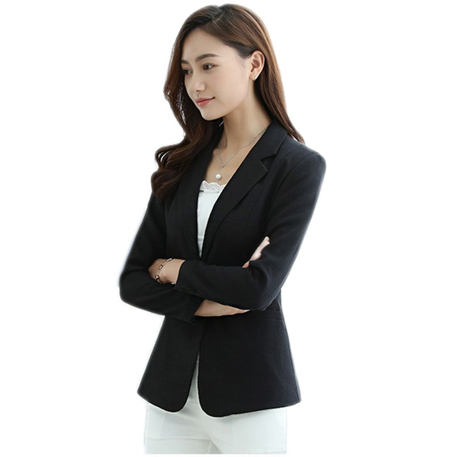 Plus Size Single Breasted Ladies Blazer Styles Designs Blazer Slim Fit Vintage Cardigan Chaqueta De Las Mujeres Coat 50N0931