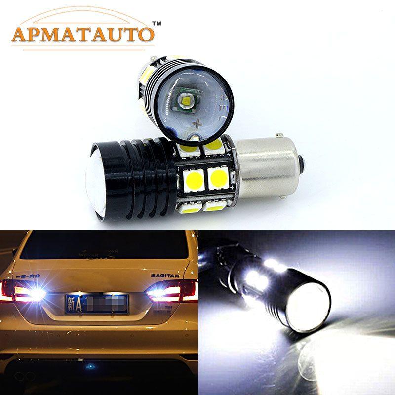 Paire 6000 K blanc 1156 P21W Q5 puces sans erreur voiture LED arrière inversion ampoule de feu arrière pour Volkswagen VW TRANSPORTER T4 T5