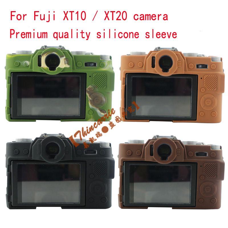 New Hot Silicone Case For Fujifilm Fuji XT10 X-T10 XT20 XT-20Camera Bag Rubber Body Protective Cover Four color