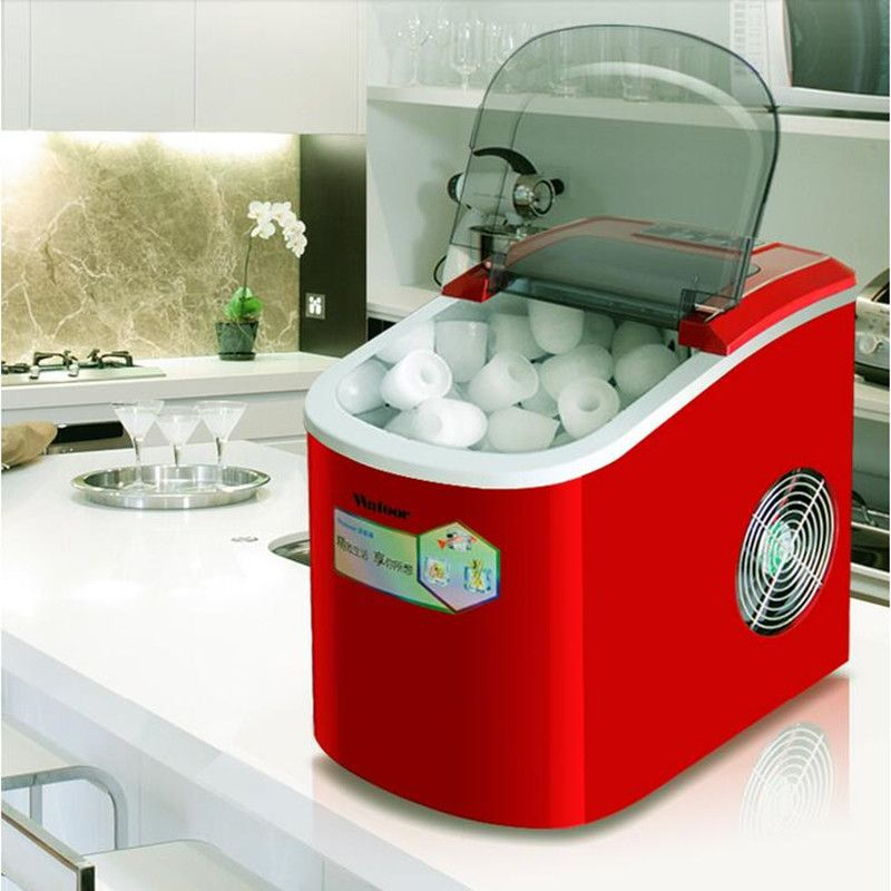 220V Mini Electric Round Ice Maker Automatic Ice Machine For Travel Milktea Shop Household Or Commercial Using