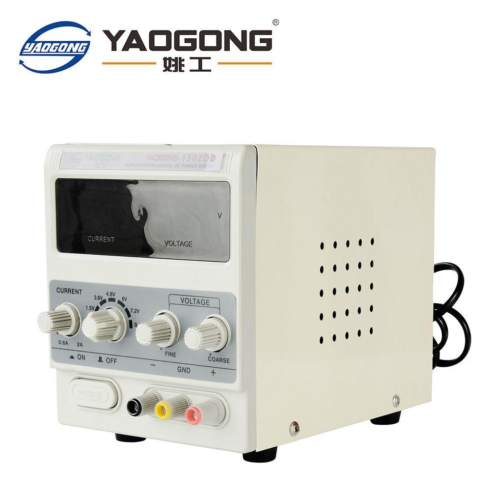 Yaogong 1502DD vente chaude point 15 v 2A ac à dc alimentation réglable courant pour téléphone mobile de réparation