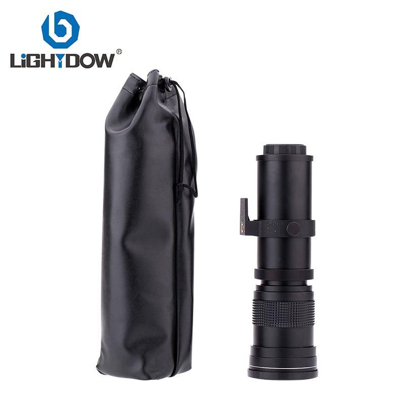 Lightdow 420-800mm F/8.3-16 Super Téléobjectif Zoom Manuel Lentille + T2 Adaper Anneau pour Canon DSLR Caméras EF EF-S Monture