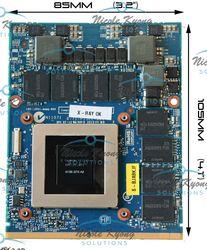 GTX 680 M GTX680M 4G 6-77-P15EL-D21 VGA Video Kartu untuk CLEVO X511 P150EM X8100 P570WM P370EM P150EM P151EM P170EM