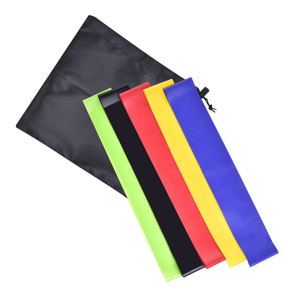 5 Pc Crossfit Yoga Resistance Bands Fitness Equipment Rubber Loop Pilates Sport Training Workout Elastic Band Set