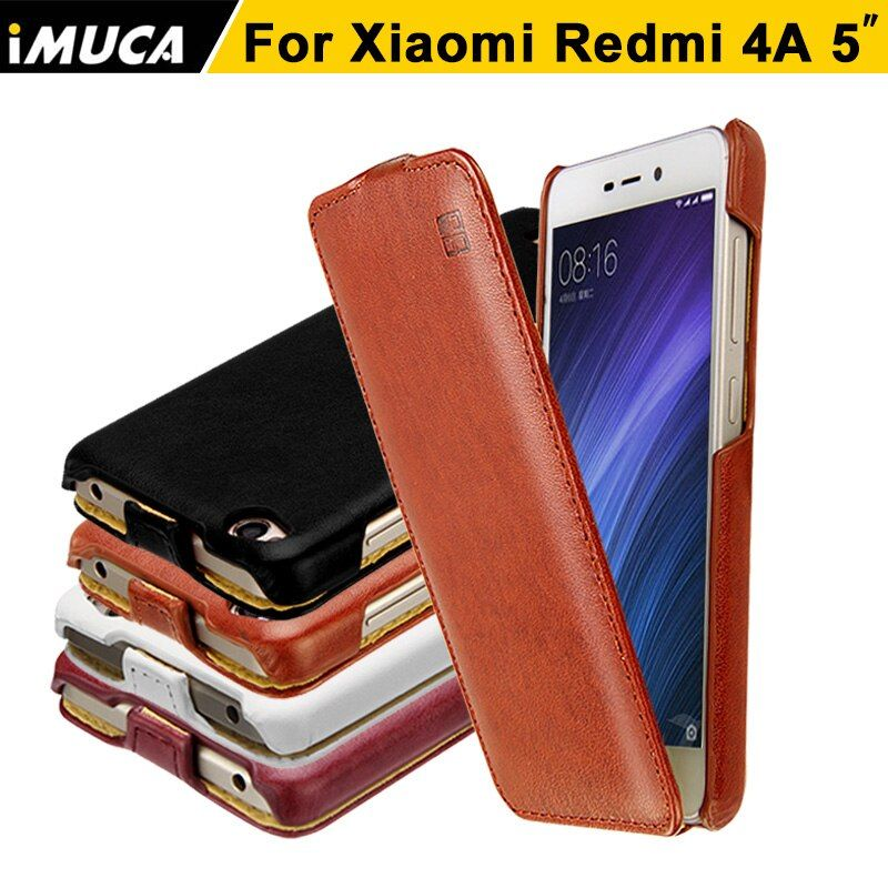 iMUCA Case for Xiaomi Redmi 4A Case Leather Flip Case Silicone Back Cover for Xiaomi Redmi 4A Cover Full Protective Phone Cases