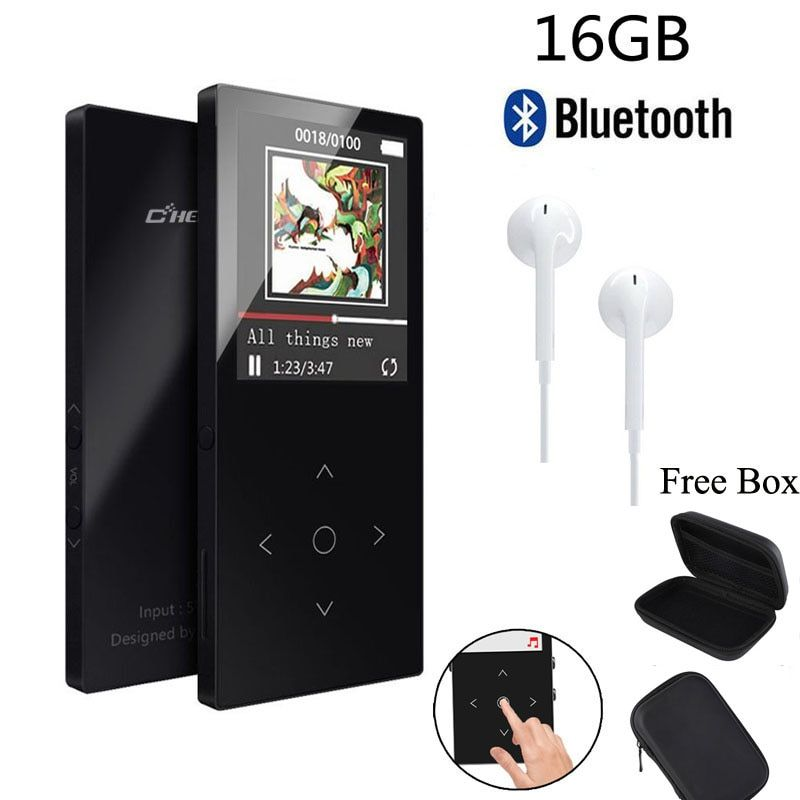 Original MP3 Player Bluetooth with 16GB 1.8Screen FLAC Hifi MP3 Player High Quality Lossless Audio MP3 FM Voice Recording