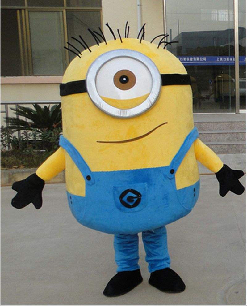 Free ship 14 design Halloween Outfit Costumes suit minion mascot costume for adults minions mascot costume