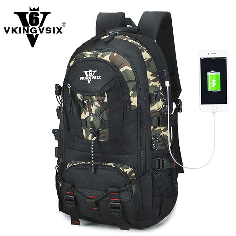 VKINGVSIX USB Waterproof school bags for teenagers 14-17 inch laptop backpack Men Women boy Travel back pack bagpack mochila