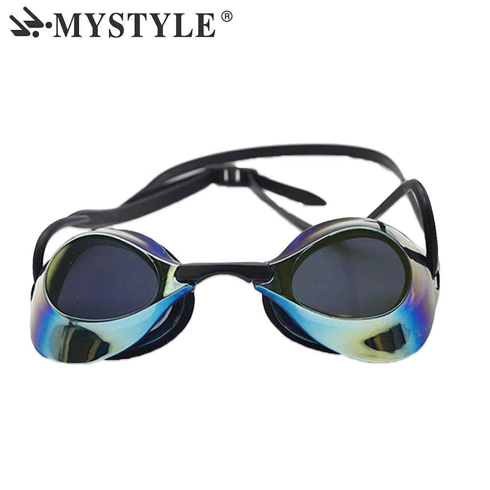 MYSTYLE New design men's women's swimming goggles anti-fog UV professional swimming goggles plated waterproof goggles