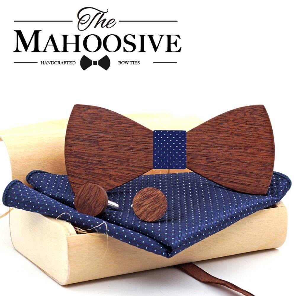 Gros Mahoosive Bois Arc Cravate Hommes Papillon Cravate Party Cravates Pour Hommes En Bois Arc Cravates Gravatas Corbatas Lien Spécial