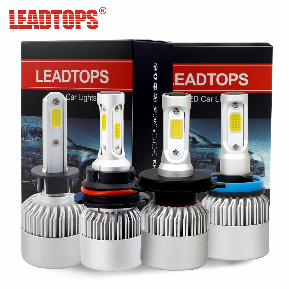 S2 H11 LED Headlight Bulbs H7 H4 H1 H3 H11/H8/H9 9005 9006 COB Auto Headlamp Conversion Kit Automobile Fog Lamp 72W 8000LM DE