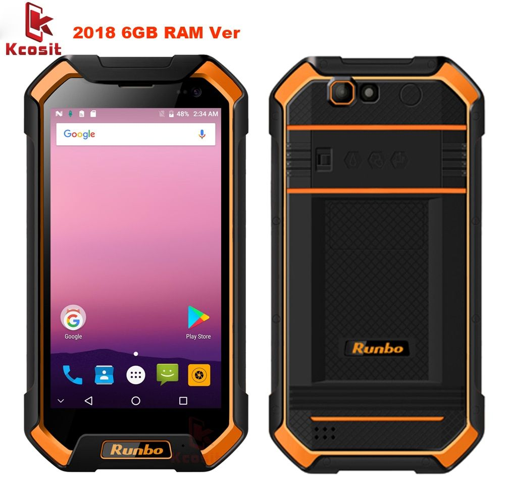 2017 Runbo F1 Plus Original Ip67 Rugged Waterproof Phone Tough 6GB RAM Smartphone Android 7.0 Octa Core 16MP 64GB ROM 4G LTE