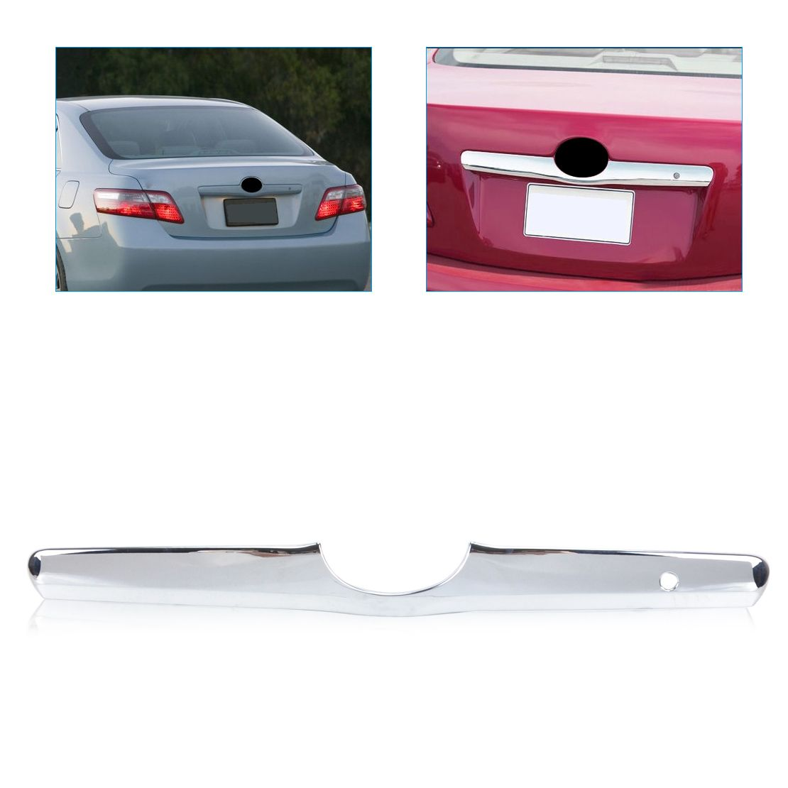 DWCX ABS Triple Chrome Tailgate Trunk Hatch Trim Bezel Cover for Toyota Camry 2006 2007 2008 2009 2010 2011