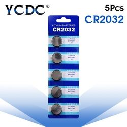 5 pcs/pack CR2032 Piles Bouton BR2032 DL2032 ECR2032 Pile bouton Au Lithium Batterie 3 V CR 2032 Pour Montre Électronique Jouet à distance