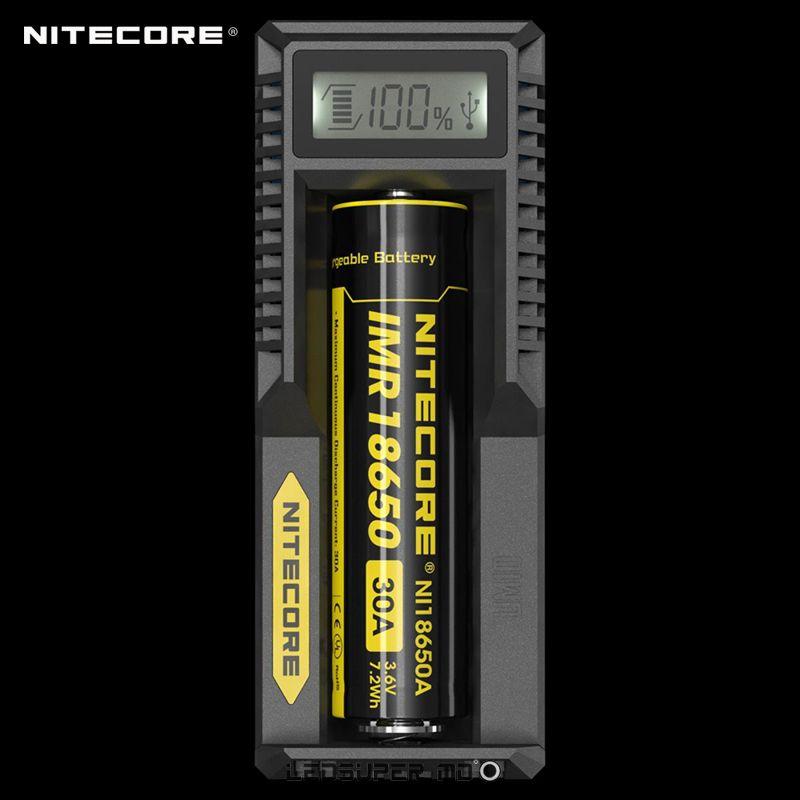 Оригинал Портативный Освещение Аксессуары Nitecore UM10 Digicharger ЖК-Дисплей Универсальный USB Зарядное Устройство 18650
