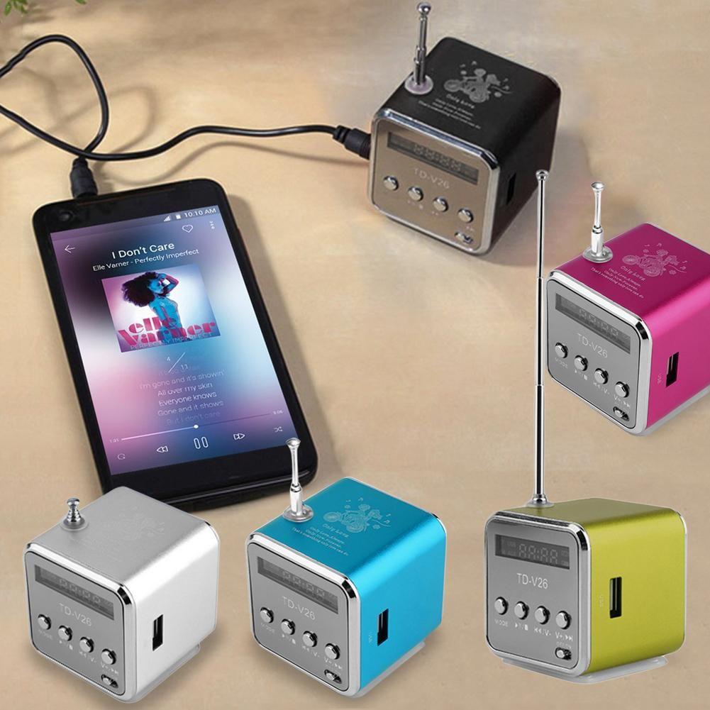 Nouveau vendeur recommande Mini Support Portable carte SD TF Micro USB stéréo Super haut-parleur MP3/4 lecteur de musique FM Radio affichage IB