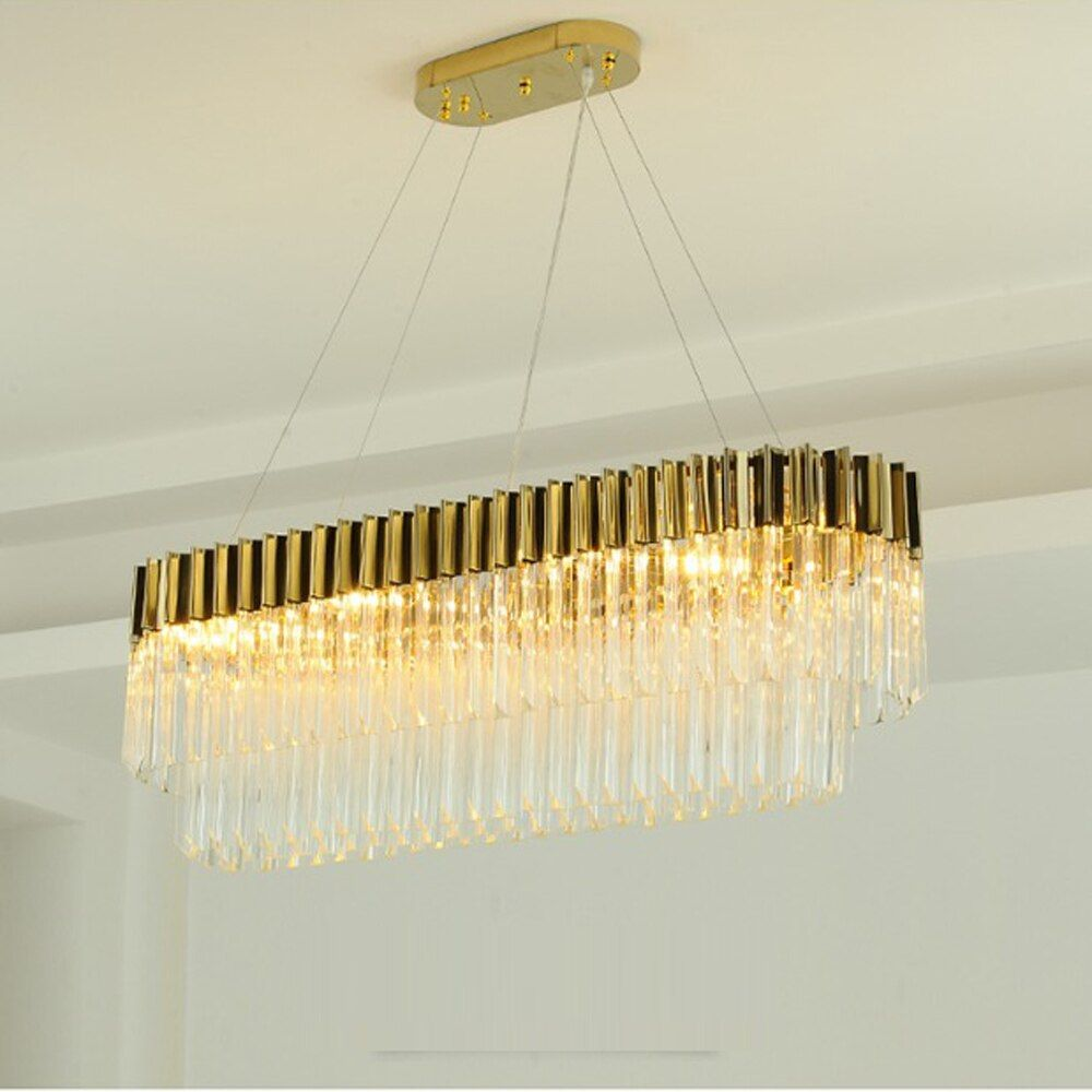 new design luxury crystal chandeliers modern lamp for living room dinning room gold chandelier LED light fixtures