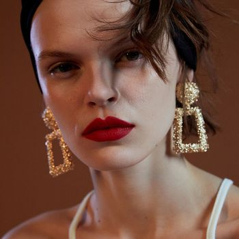 JUJIA Mode Punk Or Métal Balancent Boucles D'oreilles Pour Les Femmes Déclaration Bijoux Géométrique Big Drop Boucles D'oreilles