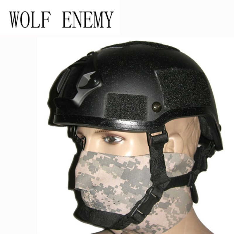Army Military Thickness Puls Frame Tactical MICH 2001 Helmet Wargame Paintball Player Helmet