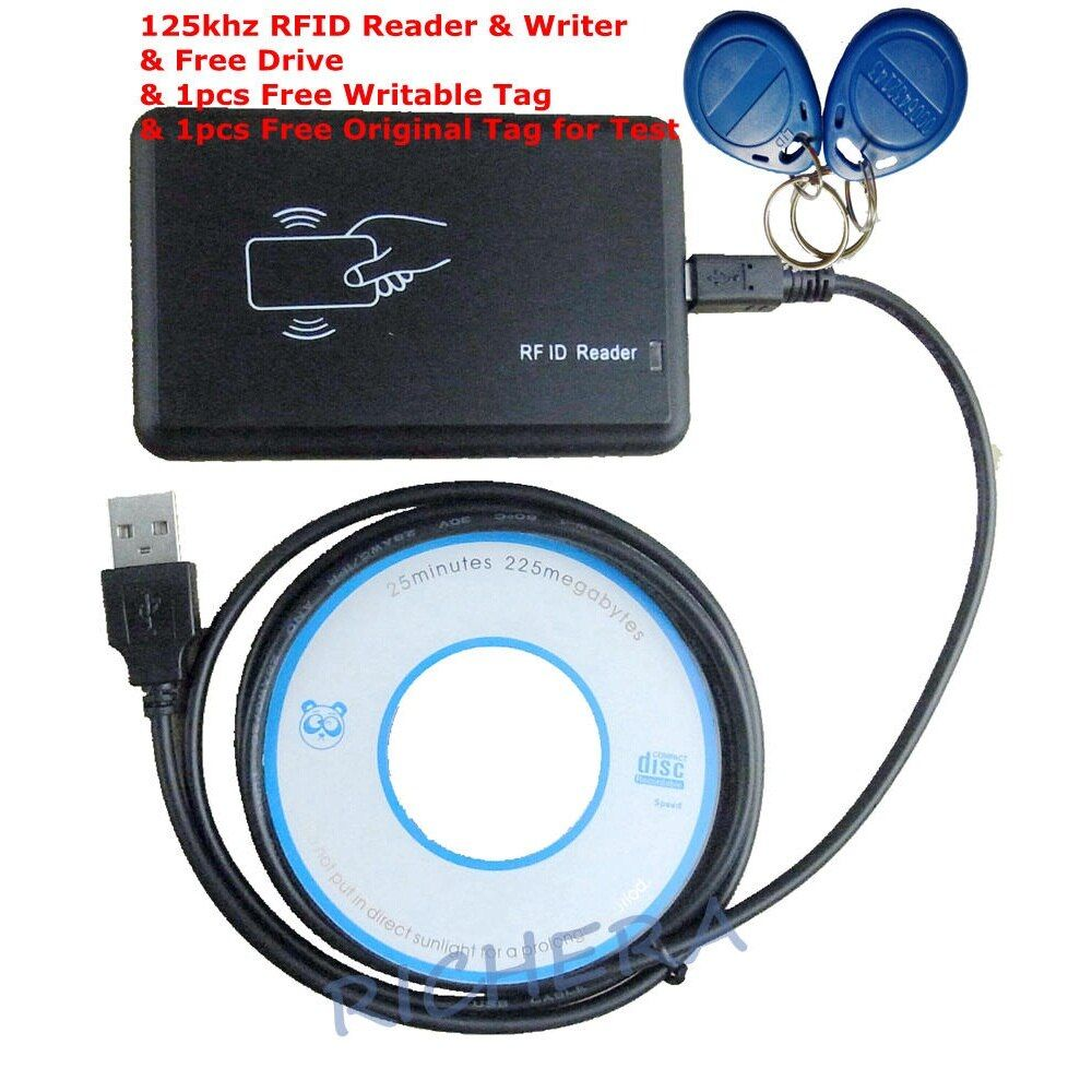 Proximity RFID USB 125 KHZ Reader & Writer Kopierer EM4305 EM4100 Karte Duplizierer & 1 stücke Geben Rewritable Tag