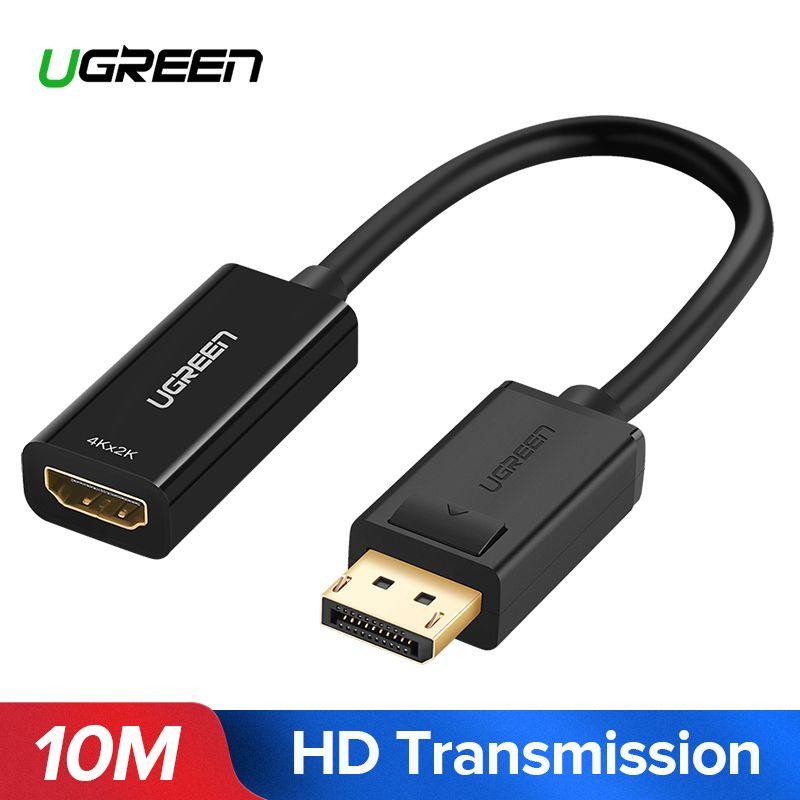 Ugreen 4 karat Displayport DP ZUM HDMI Adapter 1080 p Display Port Kabel Konverter Für PC Laptop Projektor Displayport zu HDMI Adapter