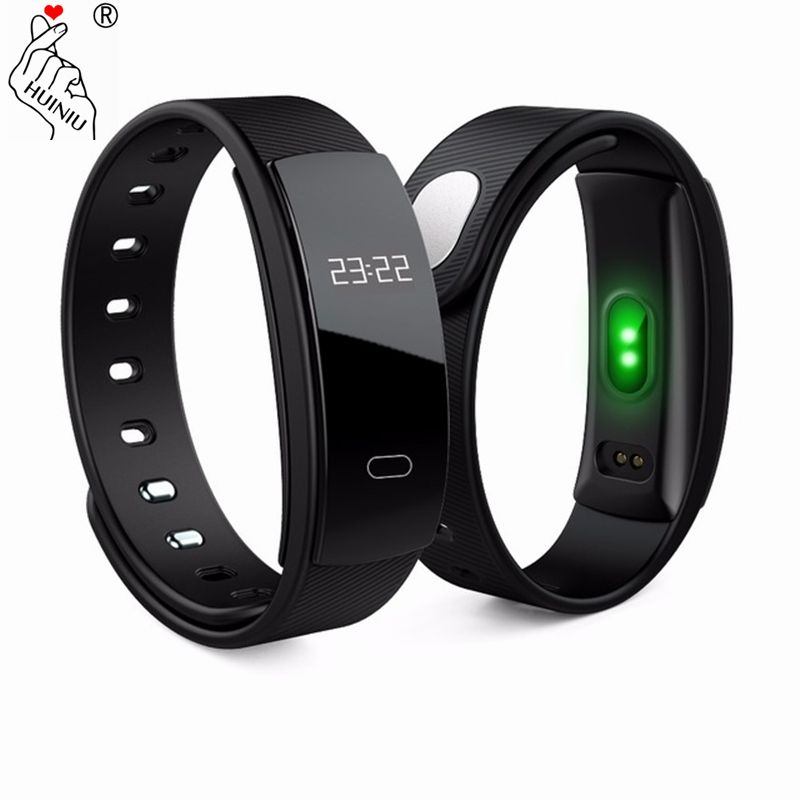 HUINIU QS80 Bluetooth Smartband Message Rappel Intelligent Bande Sang Pression Bracelet Fitness Tracker Bracelet pour IOS Android