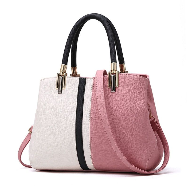 YOUNNE Women Fashion Handbag Female Patchwork Zipper Casual Shoulder Bags Lady PU Leather High Quality Daily Bag Tote Crossbody