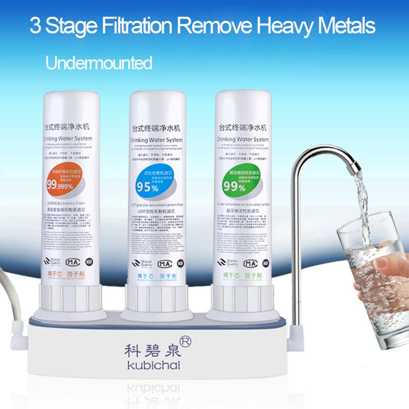 Table Type Kitchen Faucet Water Purifier 3 Stage Filtration Water Filters For Household Ceramic Carbon Water Filter Cartridge