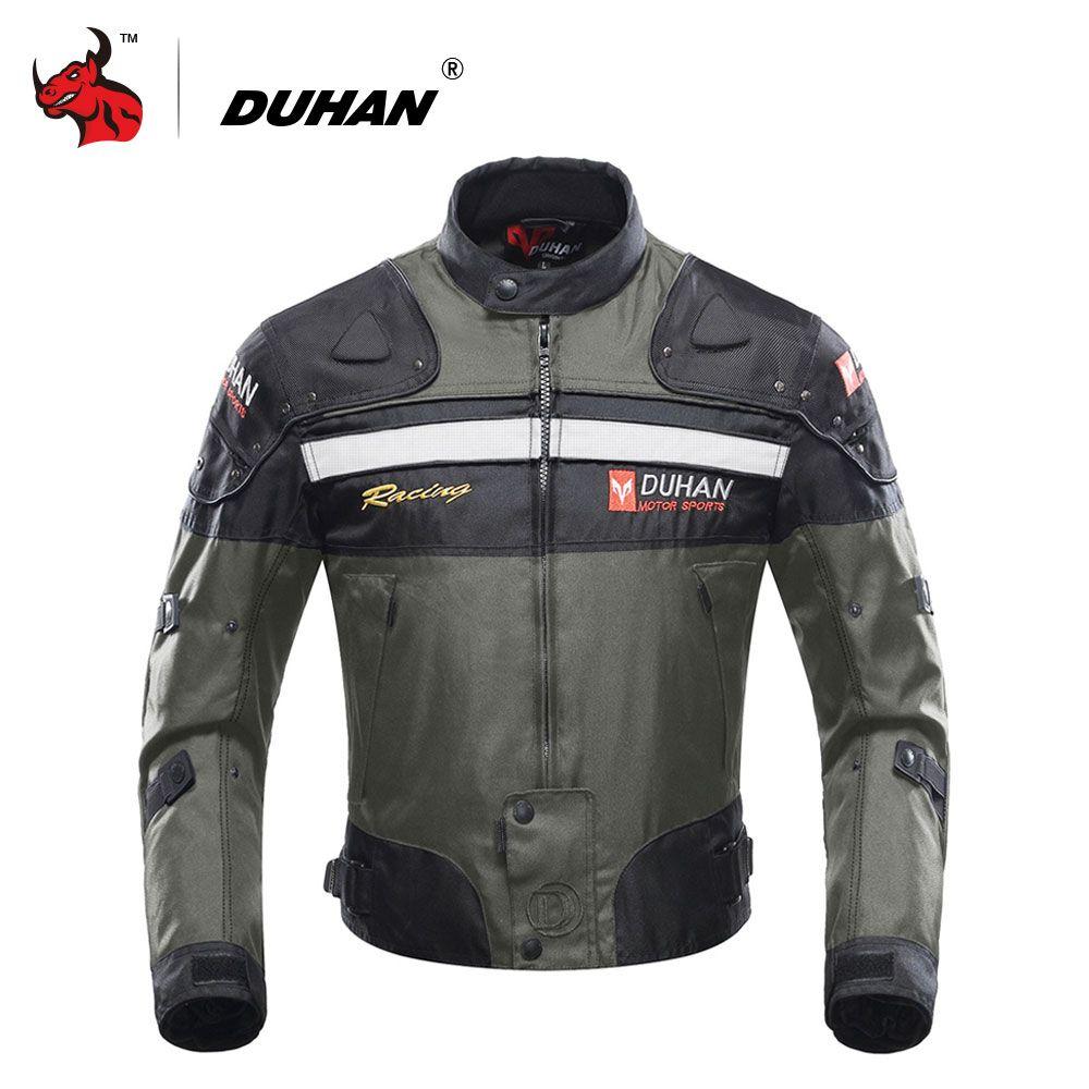 DUHAN Motocross Off-Road Racing Jacket Motorcycle Jackets Body Armor Protective Moto Jacket Motorbike Windproof Jaqueta Clothing