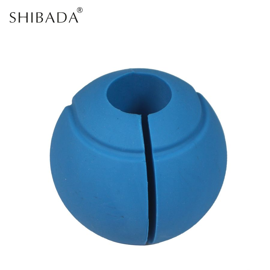 SHIBADA 1 pair Silicone Grips Thick Bar Grips Ball Shaped Dumbbell Grip Suitable for Barbell Fitness Dumbbell And Kettlebell