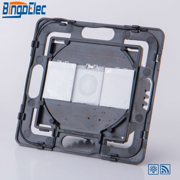 2gang 1way 700W touch dimmer remote light switch function part, no panel ,EU/UK standard ,Hot sale
